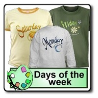 Days of the Week T-shirts