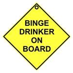 Binge drinker on board
