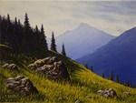 Summer mountain scene