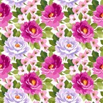 Pink Watercolor Floral Pattern
