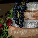 Grapes and Cheese Still Life