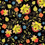 Vintage Russian Floral Pattern