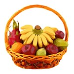 Basket of Fruit with Dragon Fruit