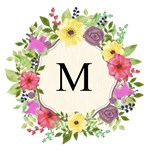 Cute Pink Yellow Floral Frame