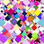 Colorful Squares Geometric Pattern