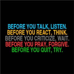 Before Talk, React, Pray, Quit