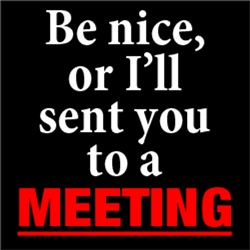 Be Nice or I'll Sent You To A Meeting