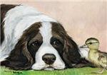 Springer Spaniel & Duckling