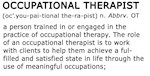Occupational Therapist Term