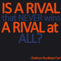 Is a rival that NEVER wins a rival at all? FLorida