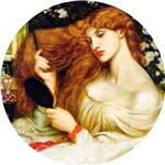 Lady Lilith Combs Her Red Hair