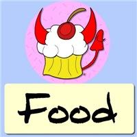 Food Stuffs and Cartoon Cupcakes