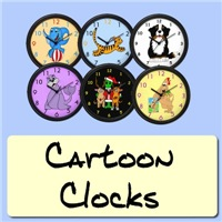 Cartoon Clocks, Classroom Clocks, Baby Clocks