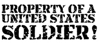 Property of a United States Soldier!