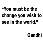 Gandhi World Change Quote