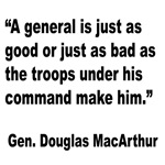 MacArthur General and Troops Quote