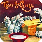 Mice & Cheese Cigar Label