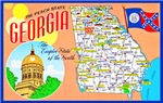 Georgia Map Greetings
