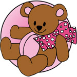 Beary Bow Pink