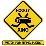 Hockey Xing - Watch For Flying Pucks