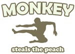 Monkey Steals The Peach