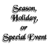 Season, Holiday or event related