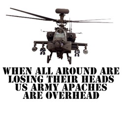 Awesome Apache AH-64 D Helicopter T's