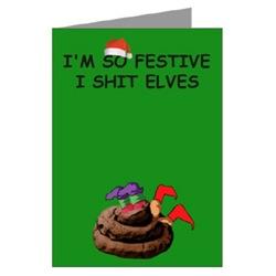 Rude Christmas cards rude elves theme