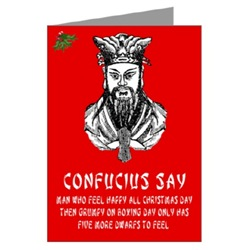 Funny Confucius saying Christmas Cards