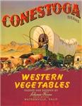 Conestoga Western Vegetables Label