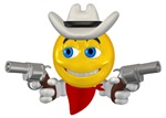 Cowboy Smiley Face