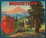 Mountain Apples Fruit Crate Label