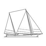 Bugeye Sailboat (line art)
