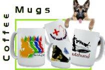 German Shepherd mugs & drinking house wares.