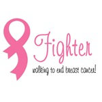 Fighter walking for breast cancer