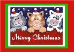 Folk Art Baby Kittens Christmas