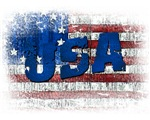 Patriotic USA Betsy Ross Distressed Flag Tshirts a