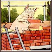 This Little Pig Builds His House from Bricks