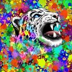 Leopard Psychedelic Paint Splats