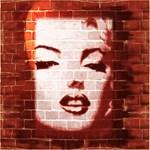 Marilyn Monroe Street Art on Brick Wall