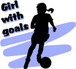 Girl with goals t-shirts & gifts