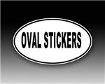 Oval Stickers - Black on White