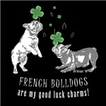 Frenchie Good Luck (GRAY ON DARK APPAREL)