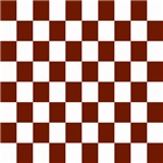 Brown and White Checkerboard