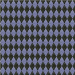 Shabby Blue and Black checkerboard