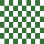 Chartreuse Checkerboard