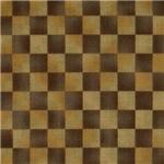 Dark Brown Burlap Checkerboard