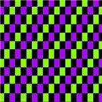 Black Neon Checkerboard