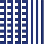Navy Teeth Comb Stripes