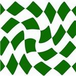 Green Checkerboard Twist